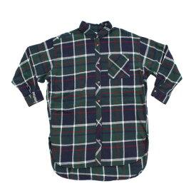パワー・トゥ・ザ・ピープル(POWER TO THE PEOPLE) ネルチェックシャツ ワンピース 8712501-52GRN (Lady's)