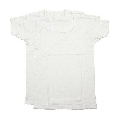 グンゼ(GUNZE) ガールズ 半袖Tシャツ 2枚組 BF6560B WHT (Jr)