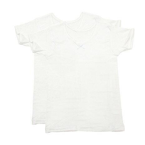 グンゼ(GUNZE) ガールズ 半袖Tシャツ 2枚組 AF8470B WHT (Jr)