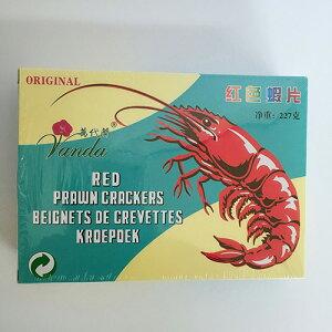 蝦片(赤色) えびせんべい エビセン スナック感覚 野菜炒めやあんかけ、ビーフンの付け合せに 中華点心 業務用 中国産 227g