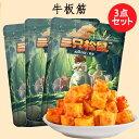 三只松鼠麻辣味牛板筋3点セット 120g×3 おやつ 中華食材 中華物産