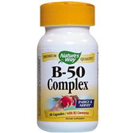 ビタミンB50コンプレックス 60粒 サプリメント 健康サプリ サプリ ビタミン ビタミンB群 栄養補助 栄養補助食品 アメリカ カプセル サプリンクス
