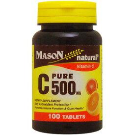 ビタミンC ピュアアスコルビン酸 500mg 100粒[サプリメント/健康サプリ/サプリ/ビタミン/ビタミンC/栄養補助/栄養補助食品/アメリカ/タブレット/サプリンクス]