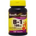 ビタミンB1 100mg 100粒[サプリメント/健康サプリ/サプリ/ビタミン/ビタミンB1/チアミン/栄養補助/栄養補助食品/アメリカ/タブレット]