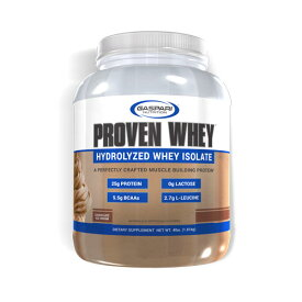 プルーブン ホエイ(加水分解ホエイアイソレート) プロテイン チョコレート 1.81kg ホエイプロテイン Proven Whey Hydrolyzed Whey Isolate Gaspari Nutrition ギャスパリニュートリション ガスパリ タンパク質 WPI WPH