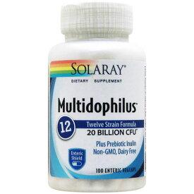 お得サイズ マルチドフィルス プラス12(プロバイオティクス12株200億配合)100粒 サプリメント 健康サプリ サプリ 乳酸菌 アシドフィルス菌 お徳用 SOLARAY ソラレー 栄養補助 栄養補助食品 アメリカ TSI2