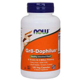 [ お得サイズ ]GR-8 善玉菌ミックス(プロバイオティクス) 120粒[サプリメント/健康サプリ/サプリ/乳酸菌/アシドフィルス菌/お徳用/now/ナウ/栄養補助/栄養補助食品/アメリカ/カプセル]