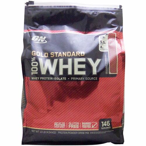 【正規品】[ 超大容量4.5kg ] 100%ホエイ ゴールドスタンダード プロテイン ※デリシャスストロベリー 4.54kgOptimum Nutrition/オプチマム/オプティマム