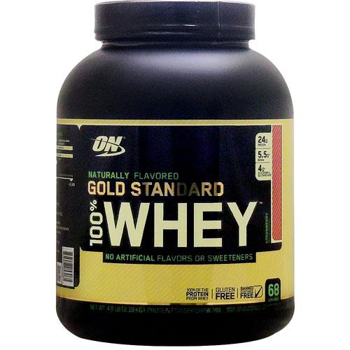 【正規品】[ 大容量 2.18kg ] 100%ホエイ ゴールドスタンダード ナチュラリーフレーバー プロテイン ※ストロベリーOptimum Nutrition/オプチマム/オプティマム