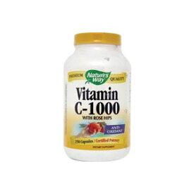 お得サイズ ビタミンC1000 + ローズヒップ 250粒 ダイエット・健康 サプリメント 健康サプリ ビタミン類 ビタミンC配合 Nature's Way ネイチャーズウェイ サプリンクス