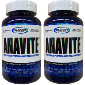 2個セット アナバイト アスリート用 マルチビタミン & ミネラル 180粒 |