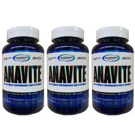 3個セット Gaspari Nutrition Anavite アナバイト アスリート用 マルチビタミン & ミネラル 180粒