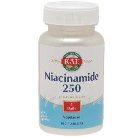 ナイアシンアミド(ビタミンB3) 250mg 100粒[サプリメント/健康サプリ/サプリ/ビタミン/ナイアシン/栄養補助/栄養補助食品/アメリカ/タブレット] ビタミンB3・ナイアシン