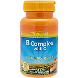 ビタミンBコンプレックス+ビタミンC 60粒(11種類のビタミンB群) サプリメント 健康サプリ サプリ ビタミン ビタミンB群 ビタミンC 栄養補助 栄養補助食品 アメリカ タブレット サプリンクス