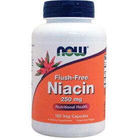 [ お得サイズ ] フラッシュフリー ナイアシン(ビタミンB3)250mg 180粒[サプリメント/健康サプリ/サプリ/ビタミン/ナイアシン/お徳用/now/ナウ/栄養補助/栄養補助食品/アメリカ/カプセル] ビタミンB3・ナイアシン