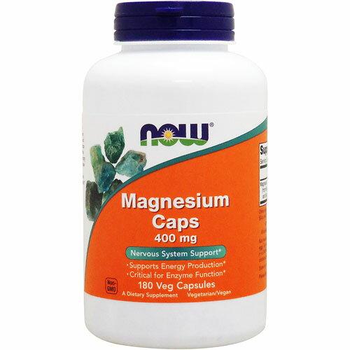 マグネシウム 400mg 180粒[サプリメント/健康サプリ/サプリ/ミネラル/マグネシウム/now/ナウ/栄養補助/栄養補助食品/アメリカ/カプセル]