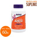 AHCC 750mg(ベータグルカン/アルファグルカン含有) 60粒[サプリメント/健康サプリ/サプリ/キノコ/茸/AHCC/now/ナウ/栄養補助/栄養補助食...