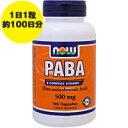 PABA 500mg(パラアミノ安息香酸) 100粒[サプリメント/健康サプリ/サプリ/ビタミン/ビタミンB群/now/ナウ/栄養補助/栄養補助食品/アメリカ/...