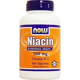 ナイアシン(ビタミンB3) 500mg 100粒 ビタミンB3・ナイアシン