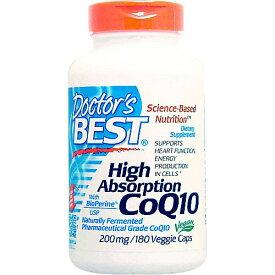 お得サイズ 高吸収コエンザイムQ10(CoQ10) 200mg 180粒 ダイエット・健康 サプリメント 美容サプリ コエンザイムQ10配合 タブレット・カプセルタイプ Doctor's Best ドクターズベスト サプリンクス