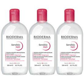 【3個セット】ビオデルマ BIODERMA クレアリヌ サンシビオ H2O 500ml ビッグサイズ フランス正規品