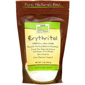 エリスリトール 100%ピュア 454g(砂糖代替甘味料) ダイエット ダイエットフード now ナウ パウダー サプリンクス