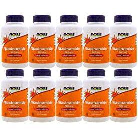 【10個セット】ナイアシンアミド(ビタミンB3)500mg 100粒[サプリメント/健康サプリ/サプリ/ビタミン/ナイアシン/now/ナウ/栄養補助/栄養補助食品/アメリカ/カプセル] ビタミンB3・ナイアシン