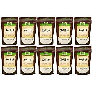 【10個セット】キシリトール 100%ピュア(砂糖代替甘味料) 454g(1lb) ダイエット ダイエットフード now ナウ パウダー サプリンクス