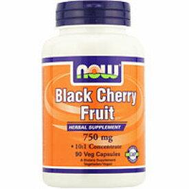 ブラックチェリーフルーツ 750mg(10倍濃縮)90粒 サプリメント 健康サプリ サプリ ポリフェノール now ナウ 栄養補助 栄養補助食品 アメリカ カプセル サプリンクス