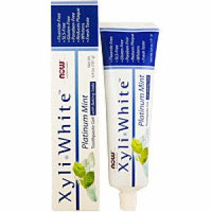 キシリホワイト ハミガキジェル プラチナムミント(重曹・キシリトール配合) 歯磨き粉