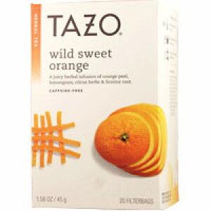 TAZO タゾティー ワイルドスウィートオレンジ カフェインフリー ハーブティー 20ティーバッグ ハーブティー オレンジピール サプリンクス