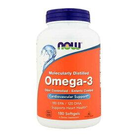 オメガ3(EPA&DHA)1000mg フィッシュオイル 180粒(ソフトカプセル)[オメガ3脂肪酸/Omega-3/魚油/10-HDA/10ヒドロキシデセン酸/循環器系/美容/ダイエット/肌の乾燥/ナウ/ナウフーズ/NOW FOODS/アメリカサプリ/サプマート/夏の体特集/11482]