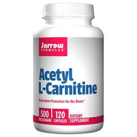 アセチルL-カルニチン 500 mg 120カプセル[アミノ酸/Acetyl L-Carnitine/ブレインサポート/燃焼系エクササイズ/運動サポート/ダイエット/スポーツサプリ/JARROW FORMULAS/アメリカサプリ/サプマート/夏の体特集/33469]