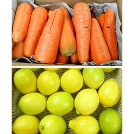 無農薬人参10kg+低農薬国産レモン1kg セット