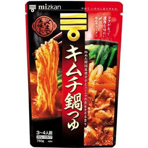 株式会社ミツカン 〆まで美味しい キムチ鍋つゆストレート 750g×12袋セット