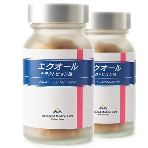 (お得な2本セット)エクオール+ラクトビオン酸【産婦人科専門医と共同開発 /大豆イソフラボン/更年期/サプリ】