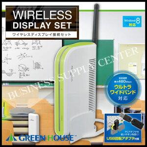 【メーカー欠品4月】グリーンハウス ワイヤレス ディスプレイ接続キット GH-WD-HDMIA