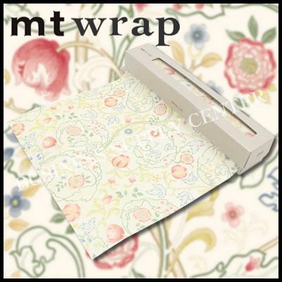 【宅配便】★2017年3月新作★カモ井 ロール紙 mt wrap(William Morris・Mary Isobel)<標準サイズ/230mm幅> MTWRAP35 ラッピングペーパー