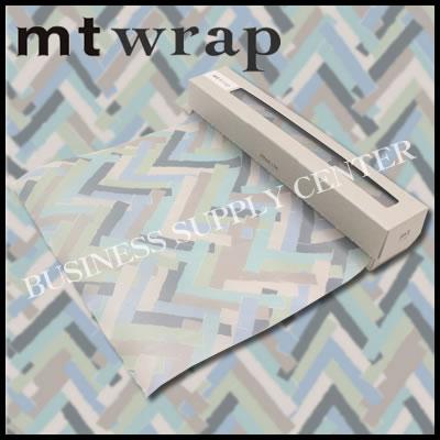 【宅配便】★2017年6月新作★カモ井 ロール紙 mt wrap(mina perhonen・prism・pale mix)<標準サイズ/230mm幅> MTWRAP43 ラッピングペーパー