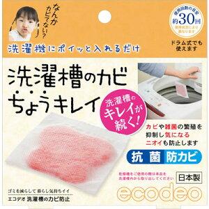 【ネコポス可能】太洋株式会社 ecodeo(エコデオ) 洗濯槽のカビちょうキレイ<1枚入> E-W1R