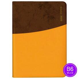 【ネコポス可能】《2020年1月始まり》ダイゴー MILL(ミル) CIRCLE 1週間+横罫<B6判> ブラウン×オレンジ E7537 手帳/ダイアリー/スケジュール帳