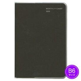 【ネコポス可能】《2020年1月始まり》ダイゴー MILL(ミル) PATTERN 1ヶ月ブロック+チャート 月曜始まり 薄型<B6判> ブラウン E7558 手帳/ダイアリー/スケジュール帳