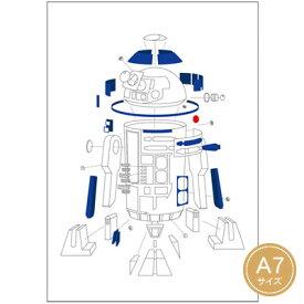 【ネコポス可能】ダイゴー スター・ウォーズ エピソード8/最後のジェダイ メモ A7 EngineeringDrawing R2-D2 A1303