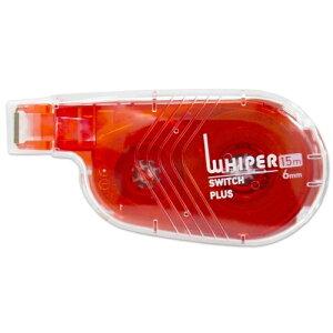 プラス(PLUS)修正テープ ホワイパースイッチ 6mm幅 レッド WH-1516 50136