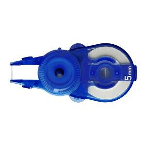 プラス(PLUS)修正テープ ホワイパースライド 交換テープ 10個入 5mm幅 ブルー WH-115R-10P 49-562 49562