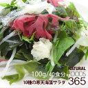 送料無料 寒天海藻サラダ 100g(40食分) 10種類海藻(わかめ/赤とさか/青とさか/紅杉のり/緑杉のり/茎わかめ/花桜藻(赤)…