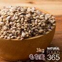 送料無料 もち麦 3kg( 500gx6 )驚きの食物繊維(β-グルカン) スーパーフード 雑穀米 プチプチ もちもち 混ぜて 炊…