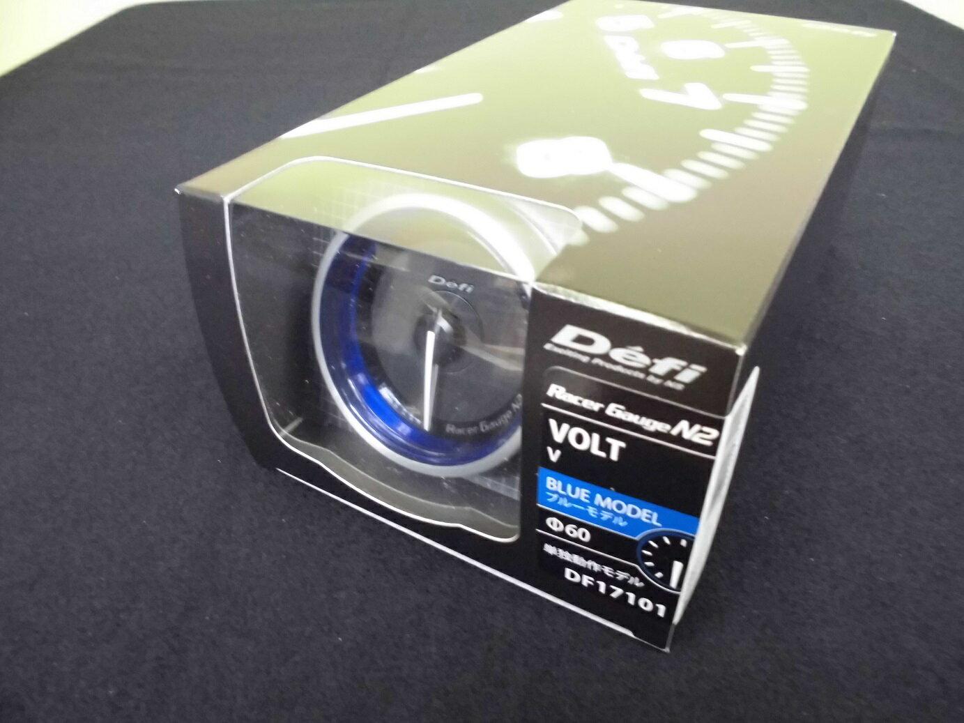 Defi Racer Gauge N2 デフィ レーサーゲージ 60Φ 電圧計 DF17101  「送料無料!!」