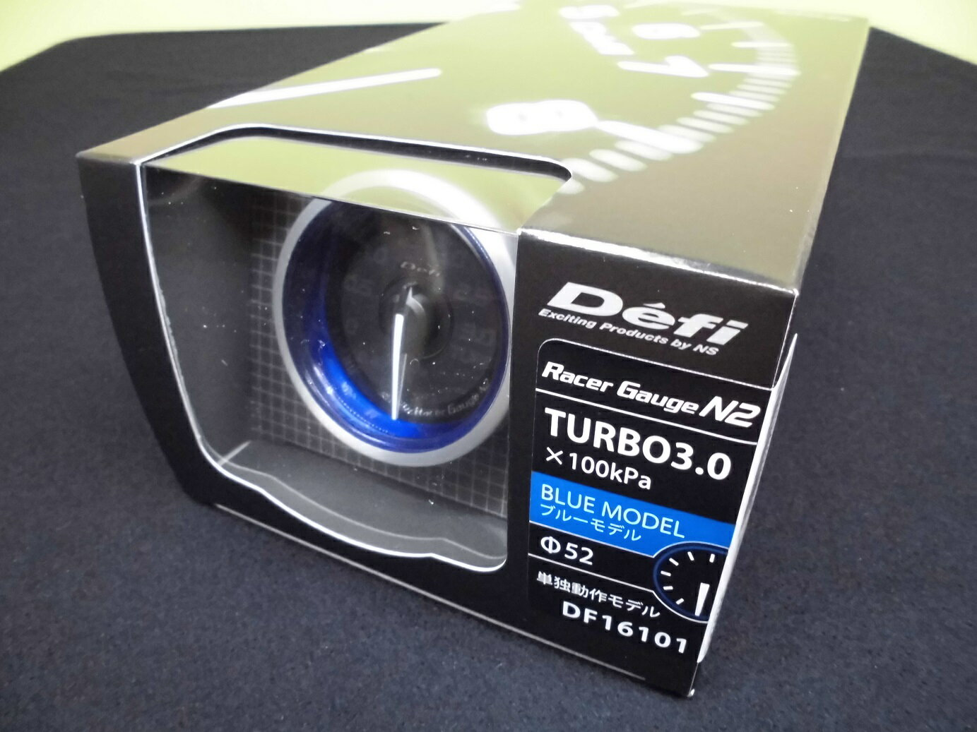 Defi Racer Gauge N2 デフィ レーサーゲージ 52Φ ターボ計 (ブースト計) MAX表示300KPA DF16101「送料無料!!」