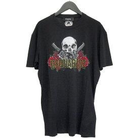 ディースクエアード DSQUARED2 Tシャツ Skull T-Shirt GD0418‐S21600-900【WINTER SALE】